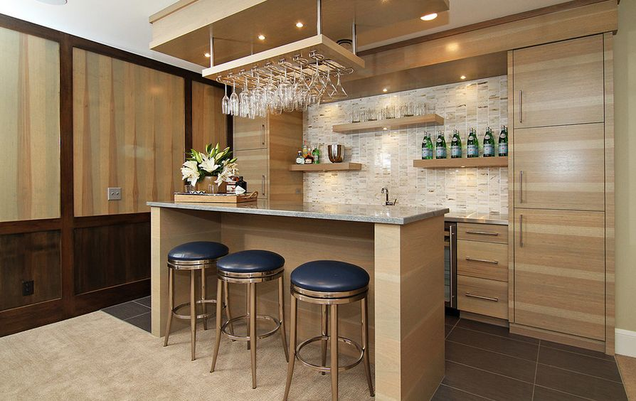 Clever Ways Of Adding Wine Glass Racks To Your Home\'s Décor