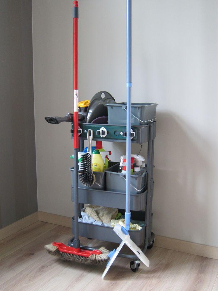 Raskog cleaning supplies storage