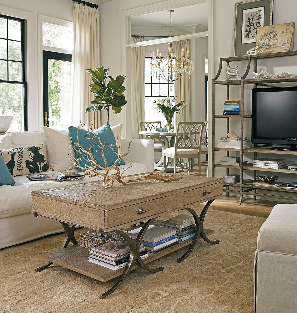 Delightful Coastal Living Room Design