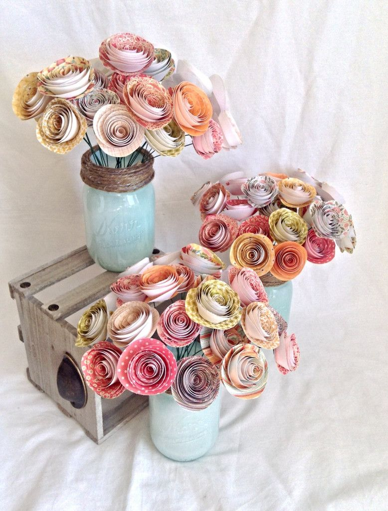 Say i do to these fab 51 rustic wedding decorations colorful paper flowers dhlflorist Choice Image
