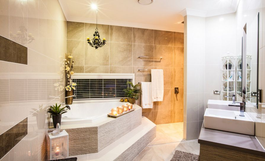 Fresh designs built around a corner bathtub - Corner tub bathrooms design ...