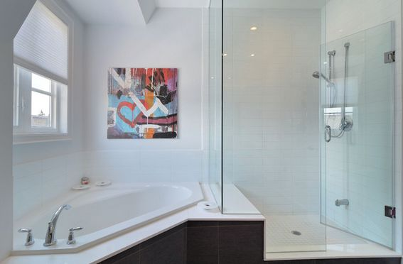 corner tub with shower combo. corner bathtub shower combo Fresh Designs Built Around A Corner Bathtub