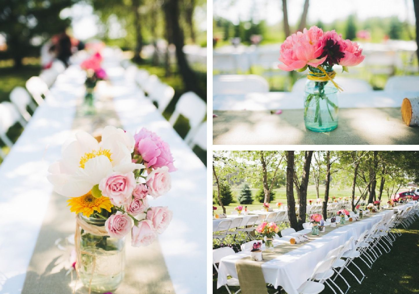Say i do to these fab 51 rustic wedding decorations for Patio table centerpiece ideas