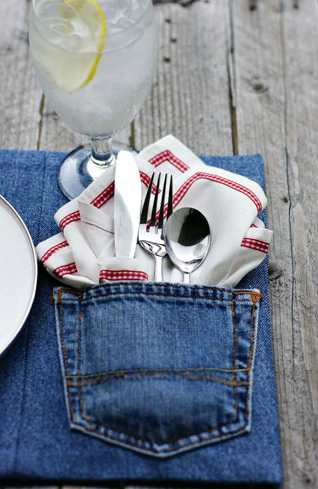 denim pocket placemats