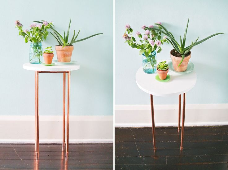 diy copper side table
