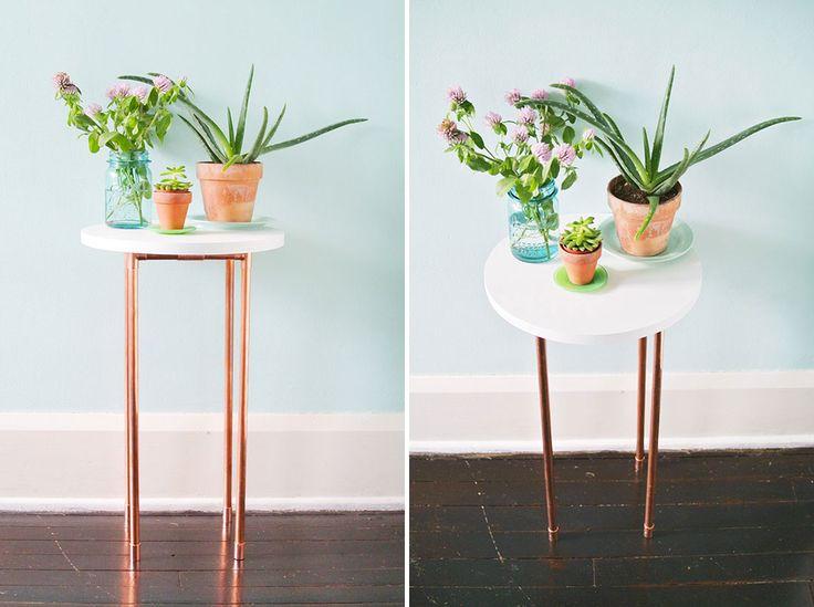 diy copper side table