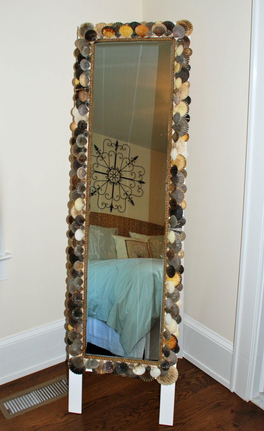 diy floor mirror nautical design - Decorate Mirror Frame