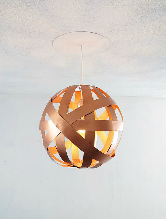 diy orb lampshade