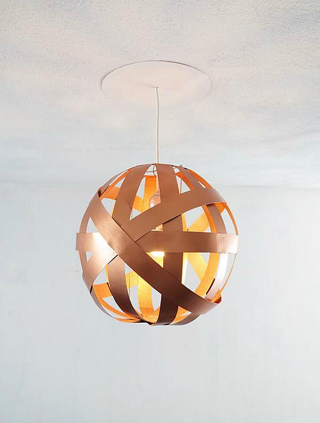 diy orb lampshade