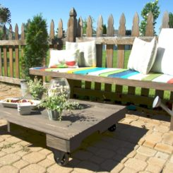 Maximize Your Outdoor Space With A Pallet Coffee Table On Wheels