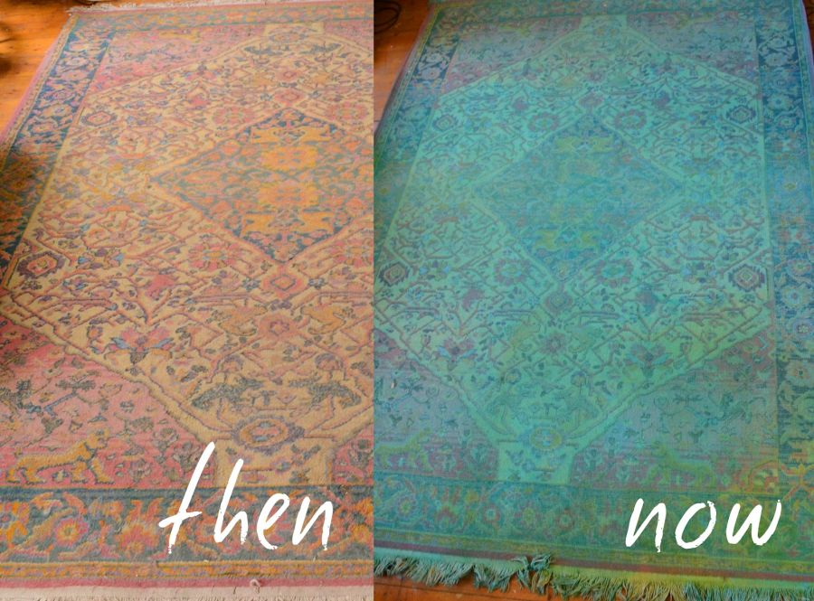 diy-overdyed-rug-with-spray-bottle