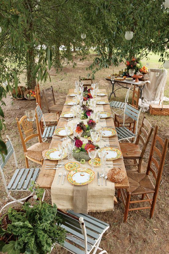 Dinner Party Table Settings Ideas Part - 49: Diy-projects-for-outdoor-party