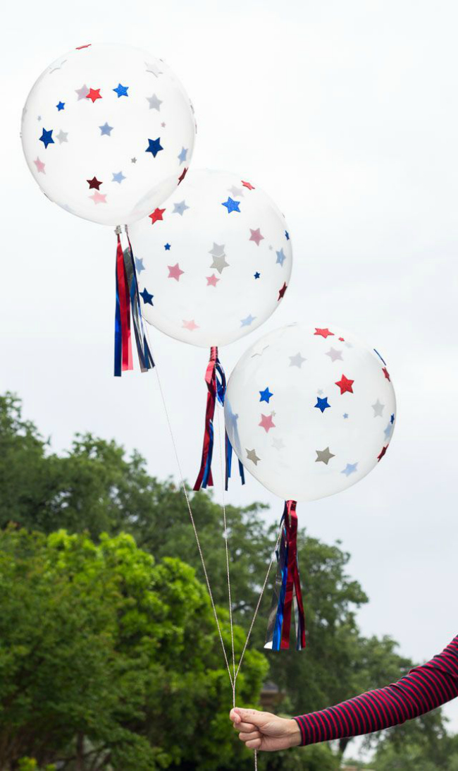 diy starry balloons