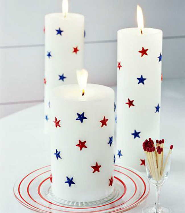 diy starry candles