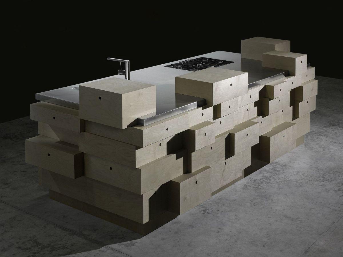 Schublade-Küche-Insel-Design