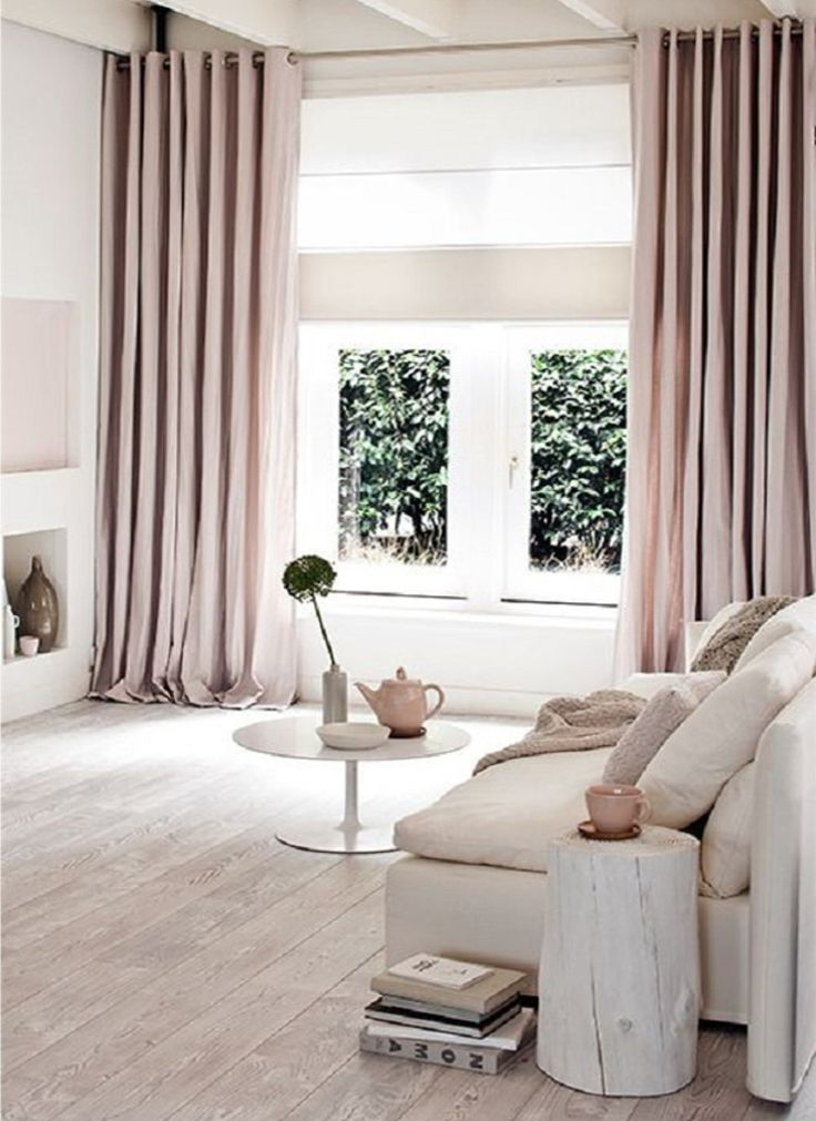 dusty pink curtains