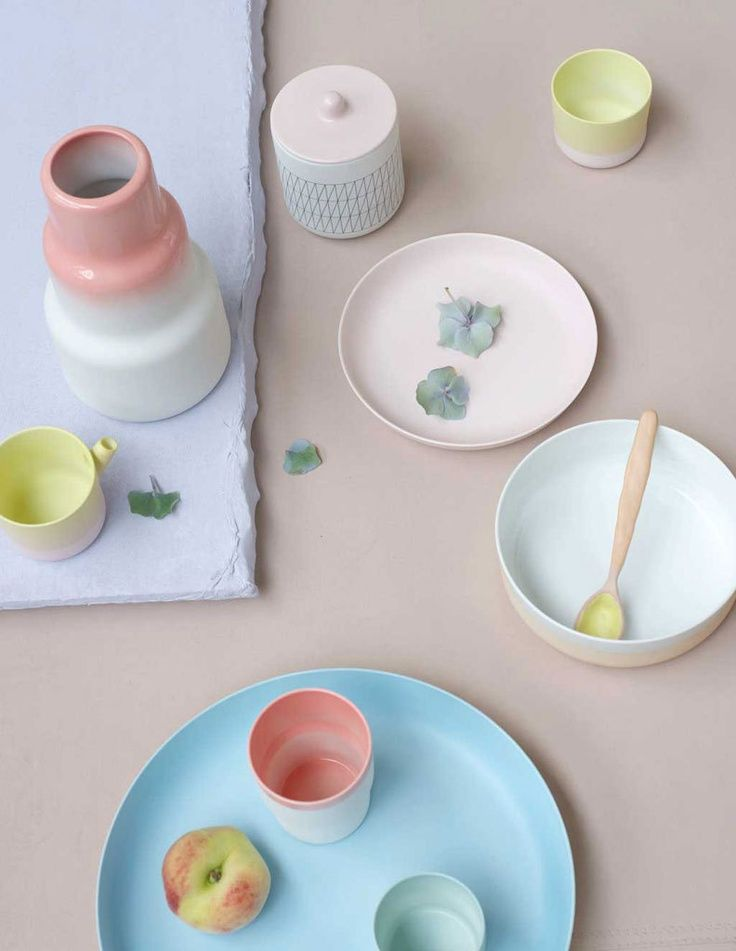 dusty pink dishes
