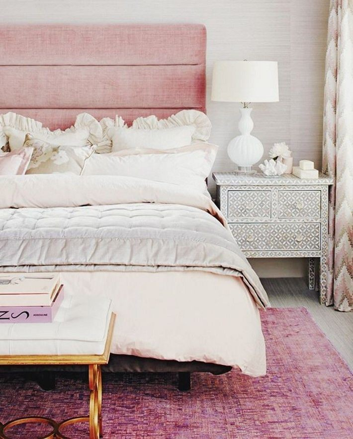dusty pink headboard