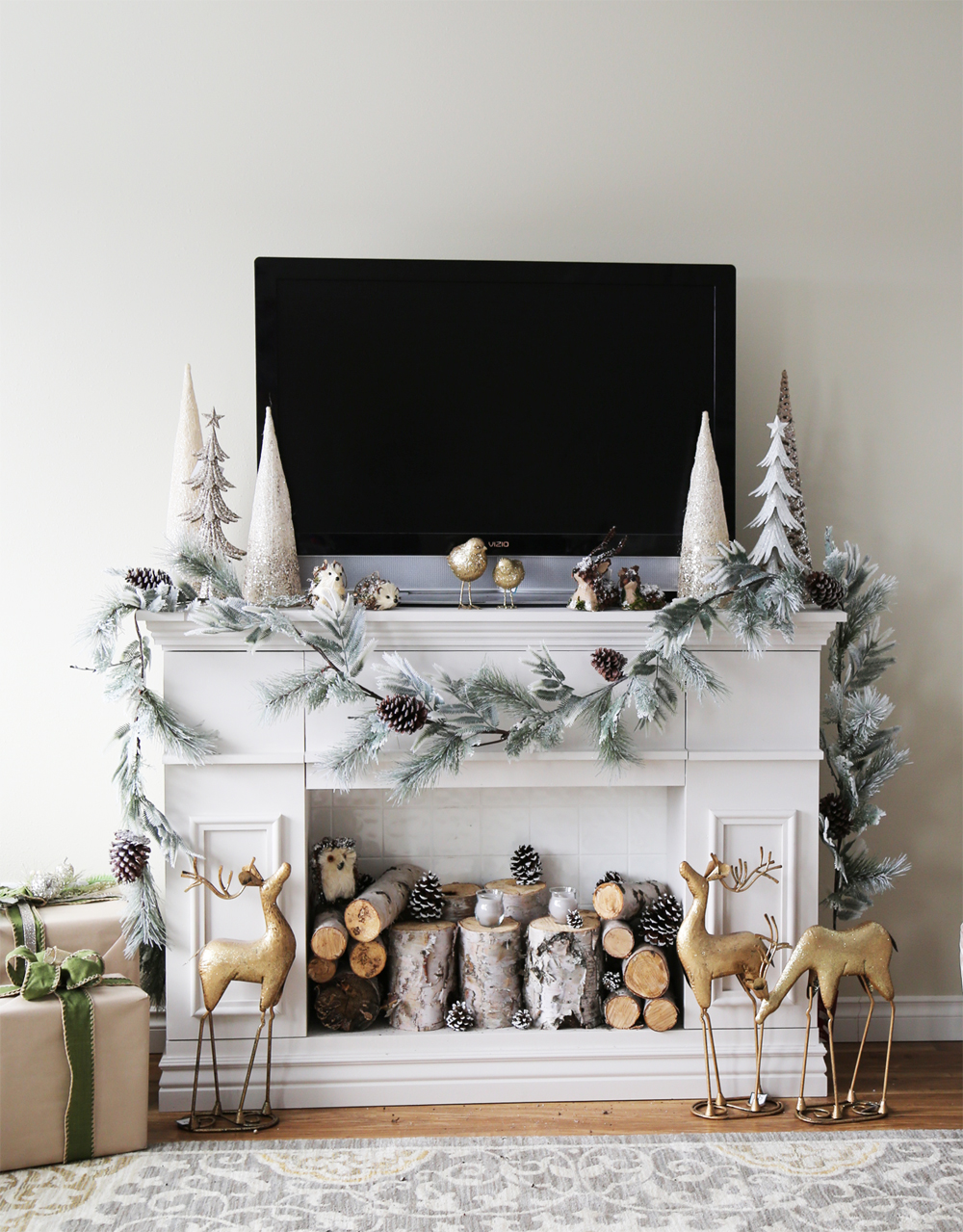 Beautiful ways to style decorate a faux fireplace double duty teraionfo