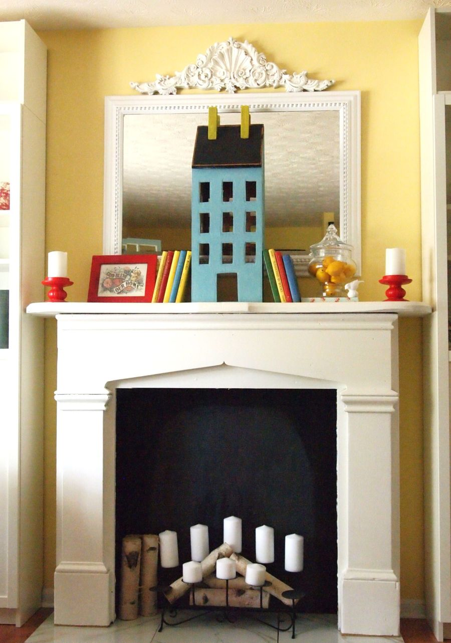 Beautiful ways to style decorate a faux fireplace for How to decorate