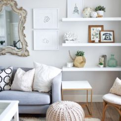 Living Room Helves 20 ways to incorporate wall-mounted tvs and shelves into your decor