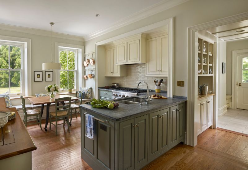 Kitchens With Stylish TwoTone Cabinets - Grey and cream kitchen cabinets