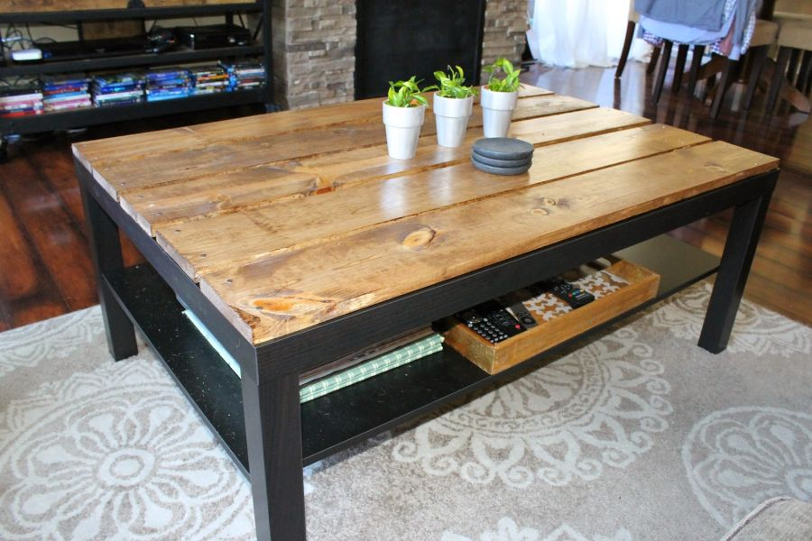 15 diy ikea lack table makeovers you can try at home for Ikea end tables salon