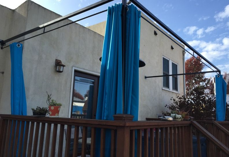 Install Curtain Rods Patio Privacy