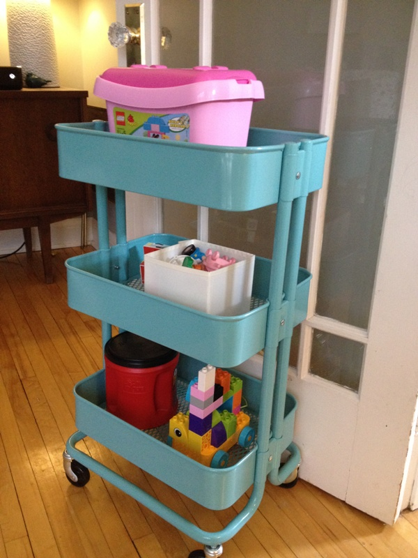 Storage cart for the kids
