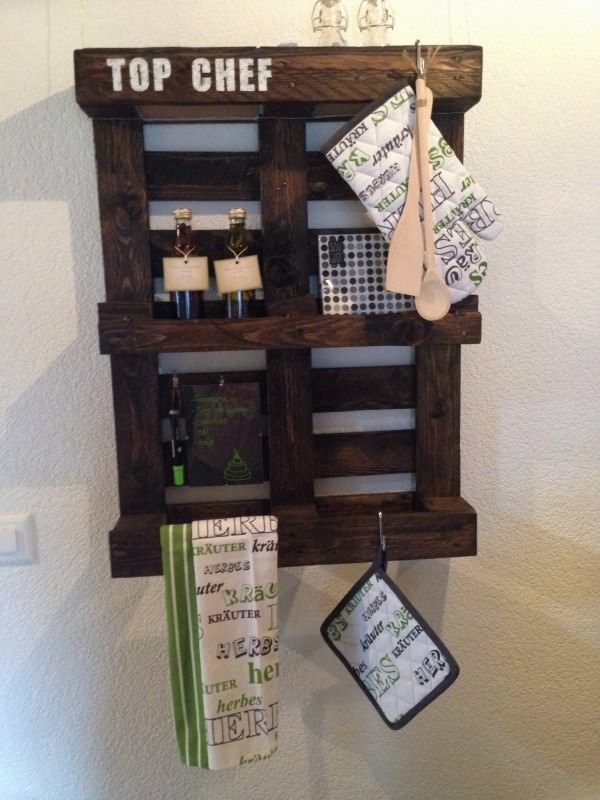 Kitchen Pice Rack Pallet Shelves