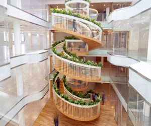 A Living Staircase Adds A Natural Element To A London Office