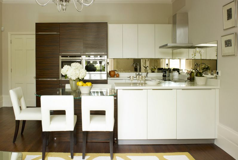 Kitchens Showing A Combination Of Painted And Natural Cupboards