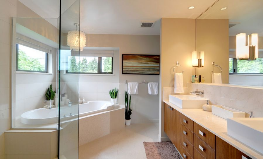 Fresh Designs Built Around A Corner Bathtub - Master bathroom bathtubs