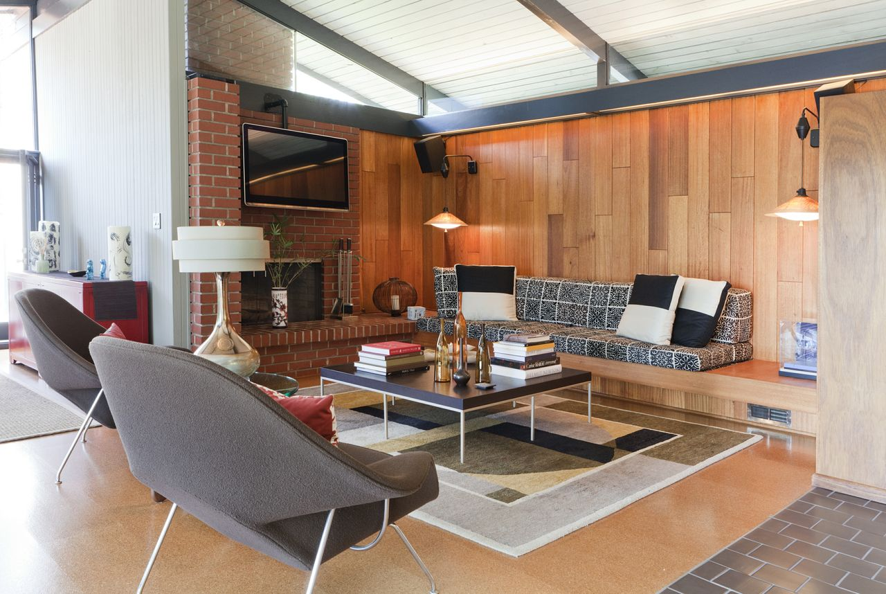 Mid century modern living furniture
