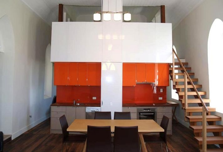 Red Orange Kitchen 20 kitchens with stylish, two-tone cabinets