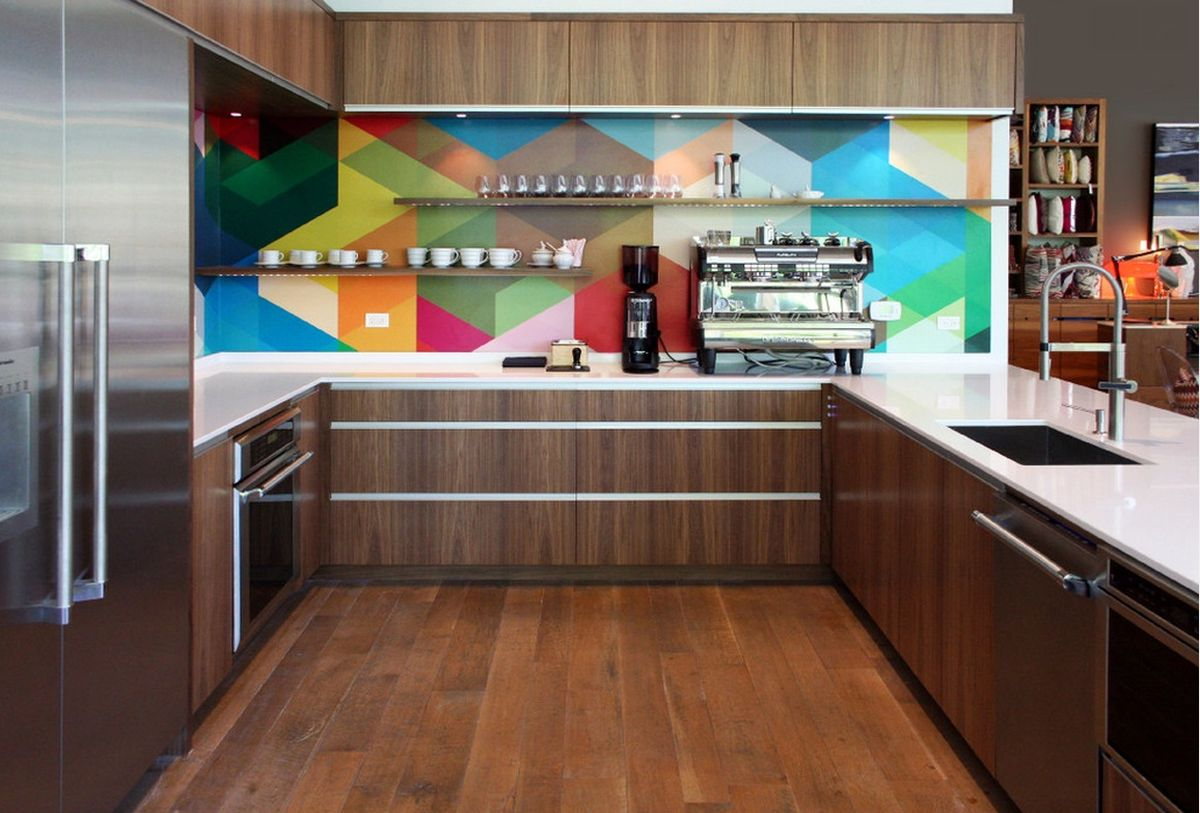 multicolored-geometric-backsplash