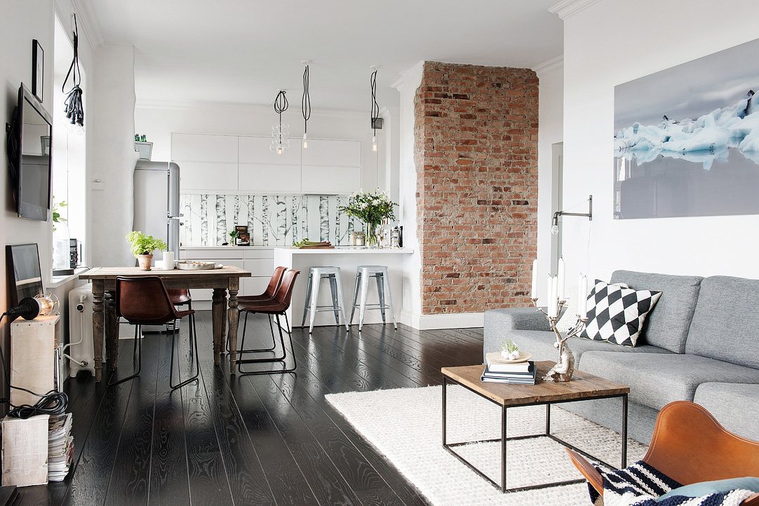 Nordic Apartment Enhanced By Its Eclectic Decor -> Fototapety Kuchenne Storczyk