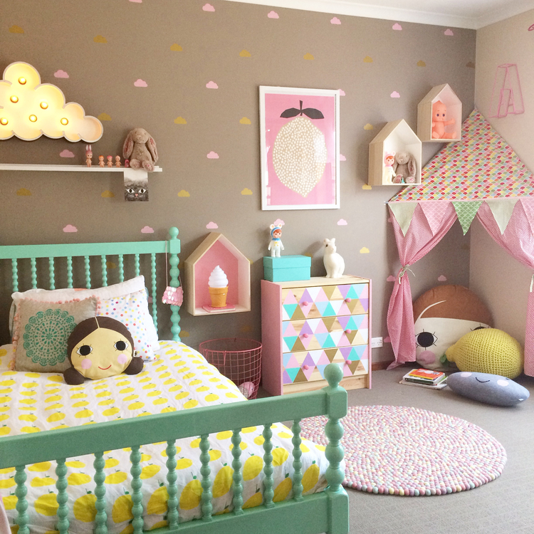 20 whimsical toddler bedrooms for little girls Infant girl room ideas