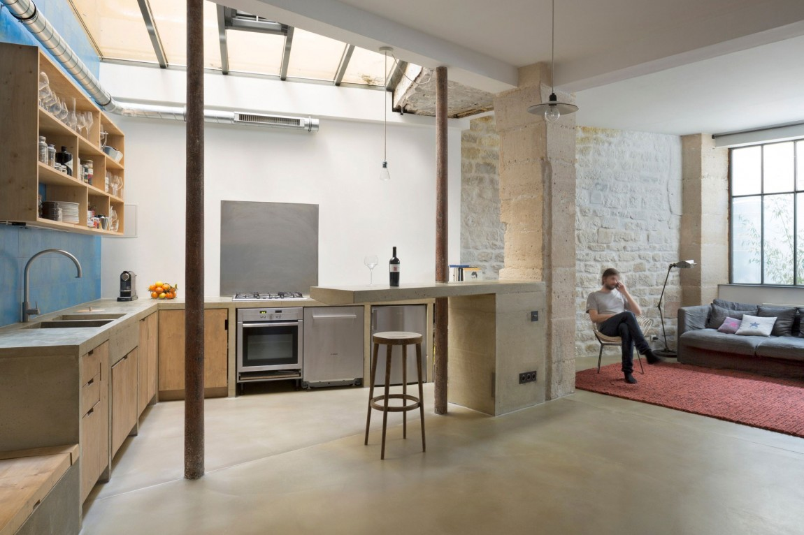 Small Budget Renovation Reveals A Loft\'s Parisian Charm