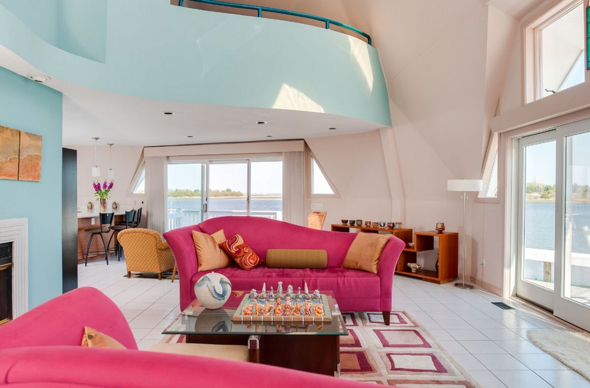 Pink And Aqua Living Room Combination