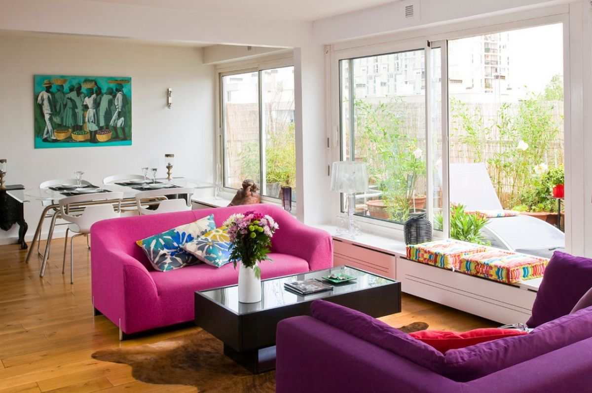 Pink Sofas Unexpected Touch Color The Living Room