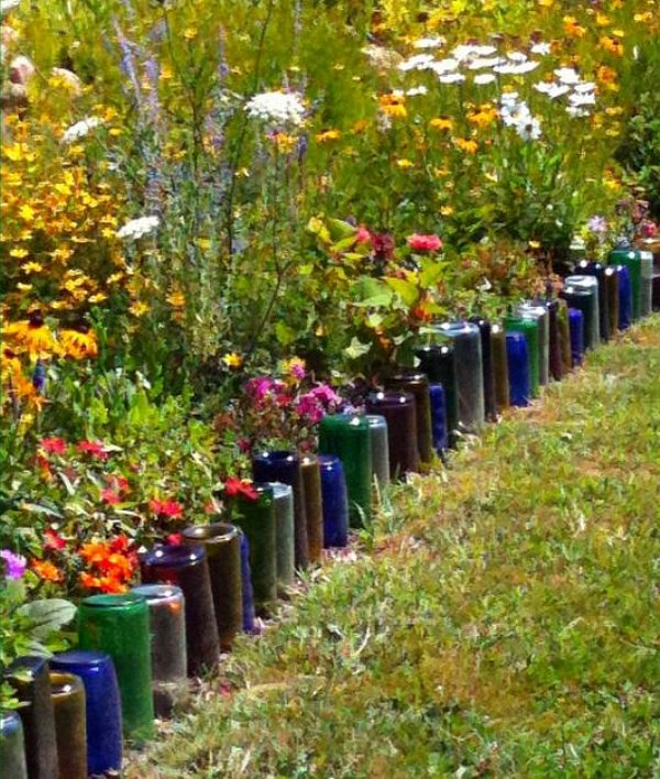 recycle-old-wine-bottles-to-create-a-garden-edge
