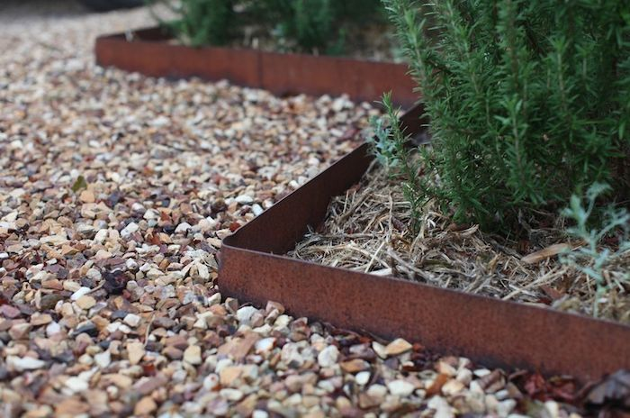 rusted-metal-garden-edging