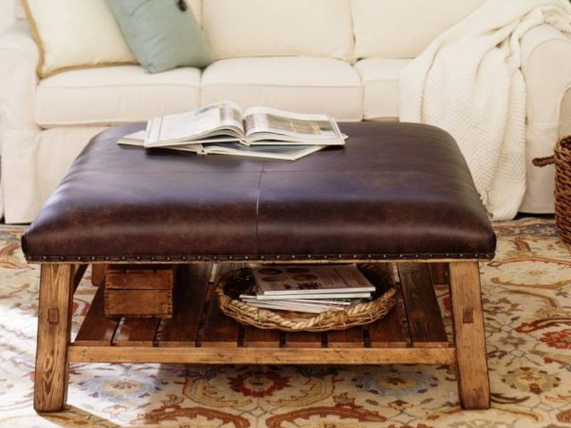 rustic-leather-ottoman-coffee-table
