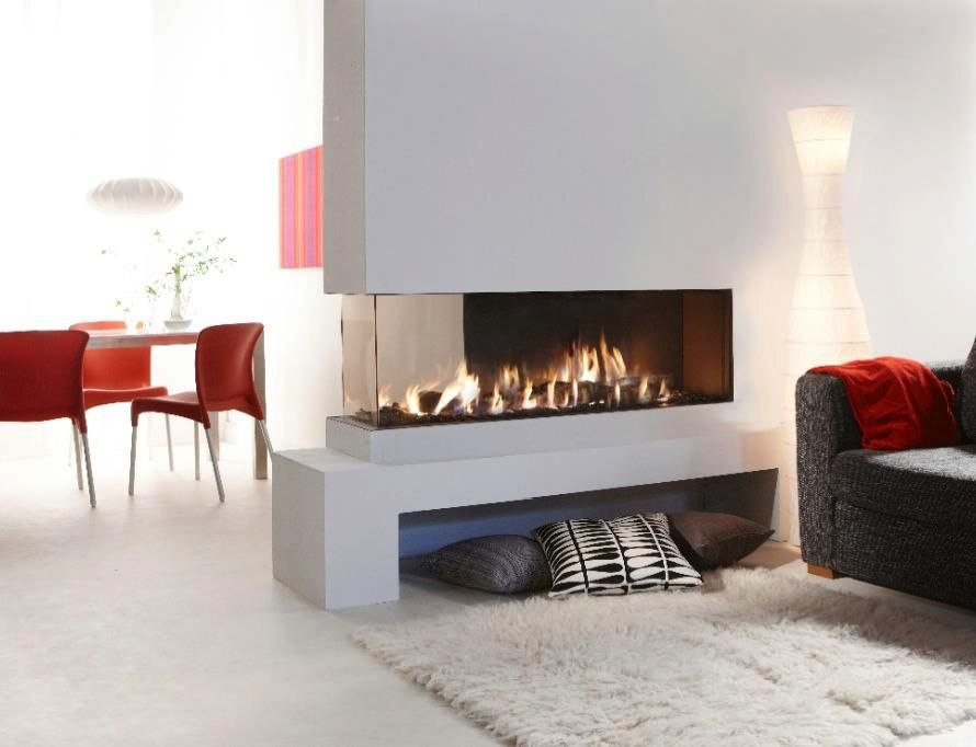 20 Gorgeous Two Sided Fireplaces For Your Ious Homes