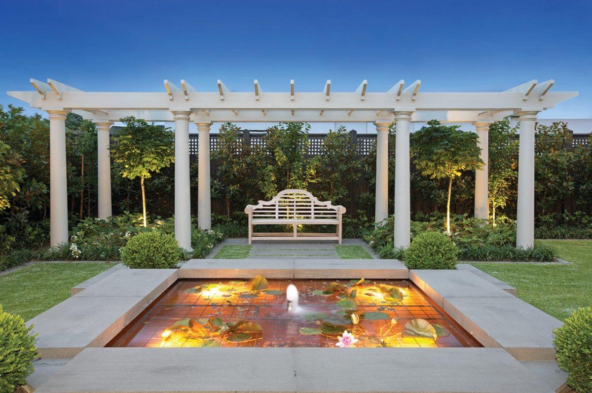 symmetrical-pergola-and-pond