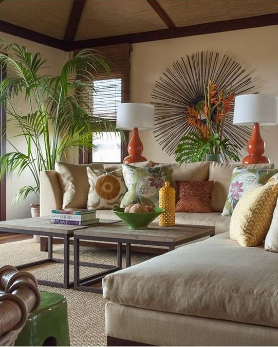 Tropical Themed Living Room