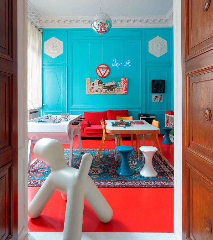 Colors That Jive Well Red Rooms