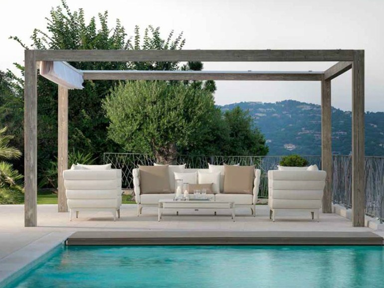 upper-wood-pergola-opened-roof - Modern Pergola Designs Inspired By The Classic Structures