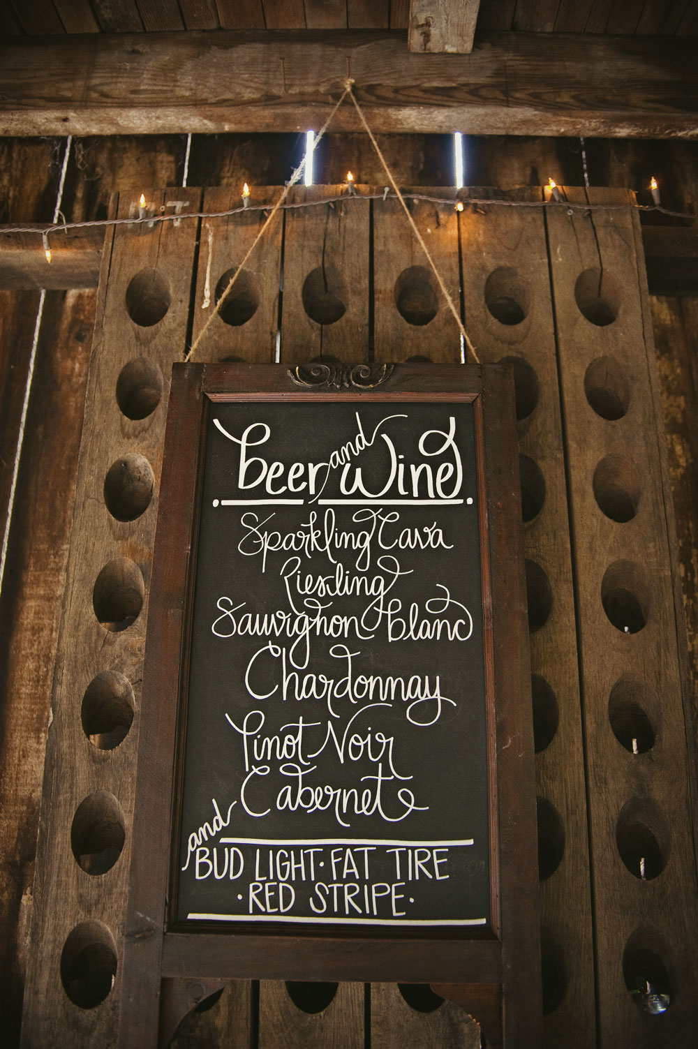 Wedding Menu Ideas For Rustic Chalkboard